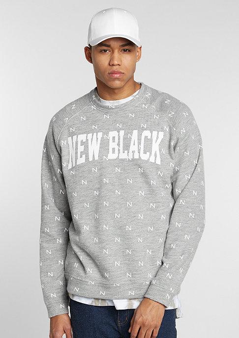 New Black Sweatshirt Campus grey melange