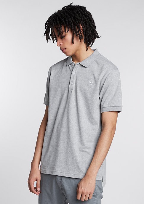 New Black Polo Cote D'azur grey melange