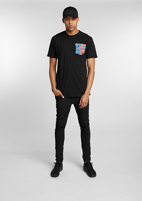 Neff T-Shirt Castro Pocket black