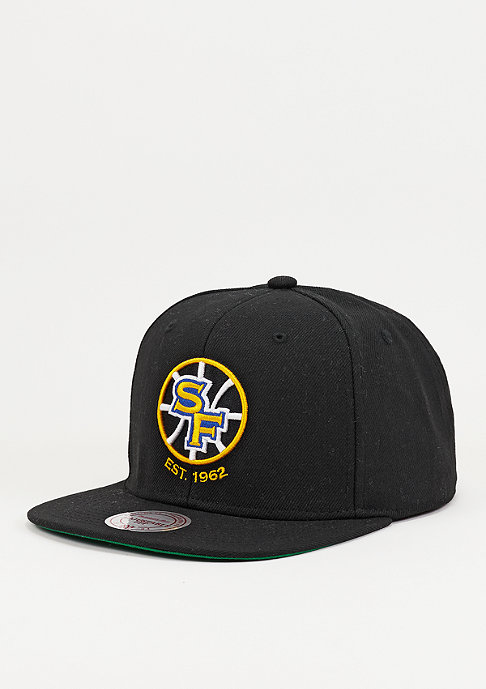 Mitchell & Ness Wool Solid NBA Golden State Warriors black