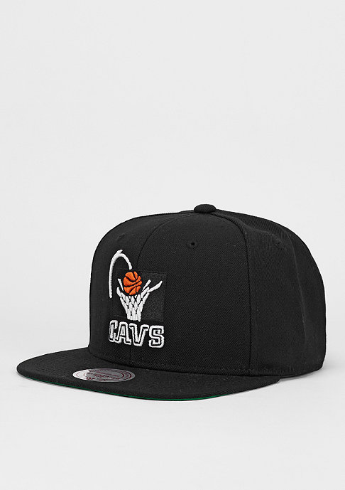 Mitchell & Ness Snapback-Cap Wool Solid NBA Cleveland Cavaliers black