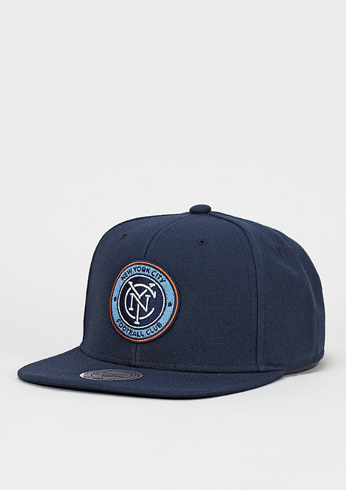 Mitchell & Ness Snapback-Cap Wool Solid MLS New York City FC navy