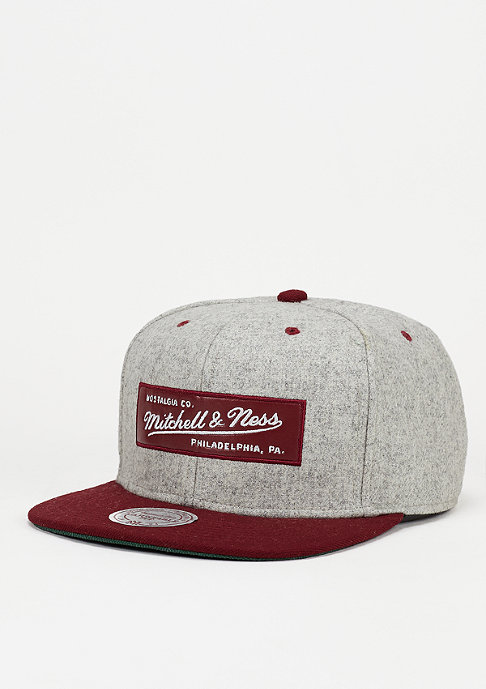 Mitchell & Ness Melange Flannel burgundy