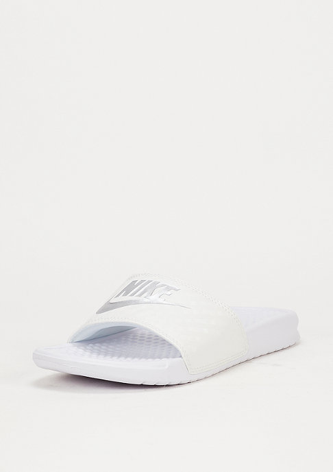 NIKE Benassi Just Do It white/metallic silver