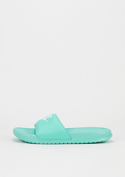NIKE Benassi Just Do It hyper turquoise/hyper turquoise/white