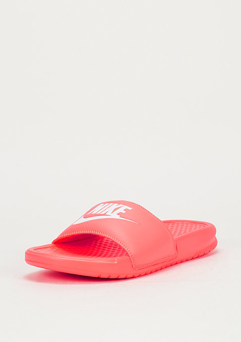 NIKE Badeschlappe Wmns Benassi Just Do It bright mango/white/bright mango
