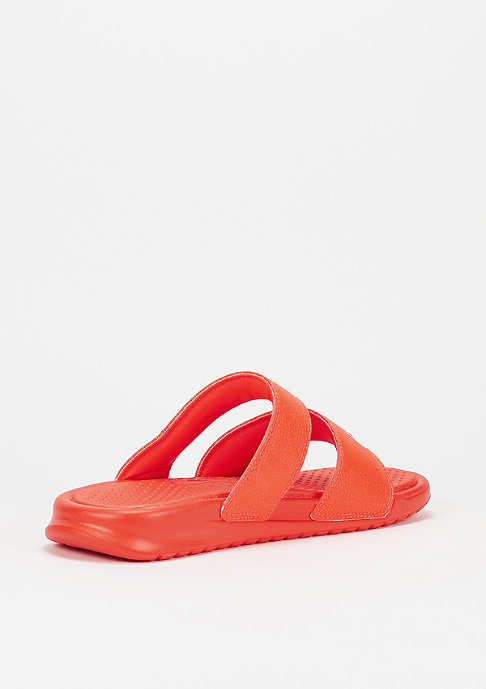 NIKE Badeschlappe Wmns Benassi Duo Ultra Slide bright crimson/white