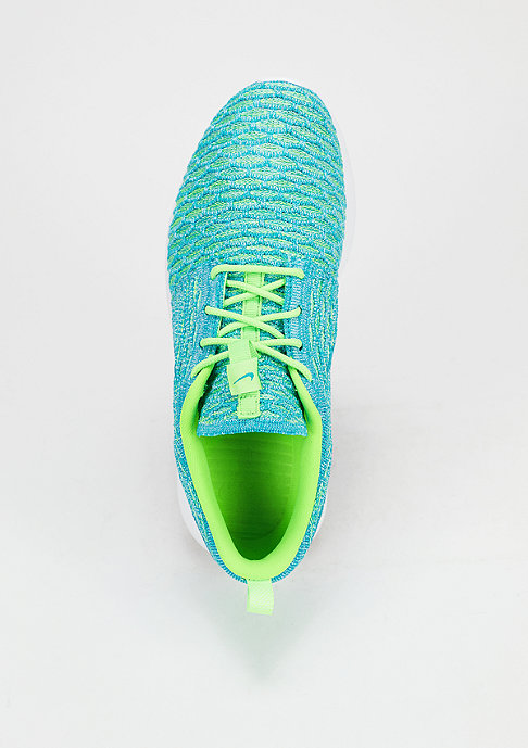 NIKE Roshe One Flyknit electric green/blue lagoon/glavier ice