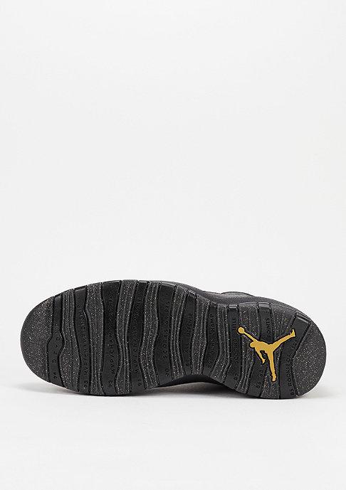 JORDAN Air Jordan 10 black/black/dark grey/metallic gold