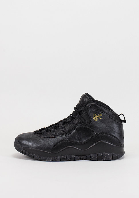 JORDAN Air Jordan Retro 10 BG black/black/dark grey/metallic gold