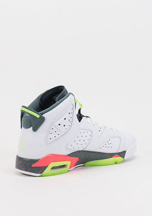 JORDAN Air Jordan 6 Retro BG white/ghost green/bright mango