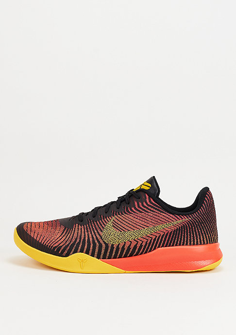 NIKE KB Mentality II black/tour yellow/total crimson