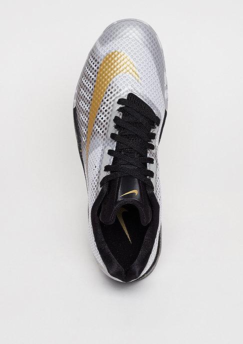 NIKE Hyperlive white/metallic gold/black/wolf grey