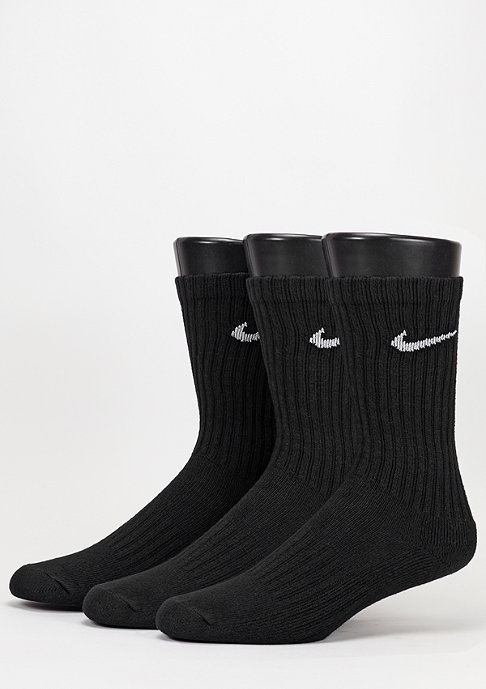 NIKE Value Cotton Crew 3Pack black/white