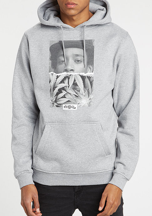 Artist by Mister Tee Hooded-Sweatshirt Wiz Khalifa Half Face heather grey