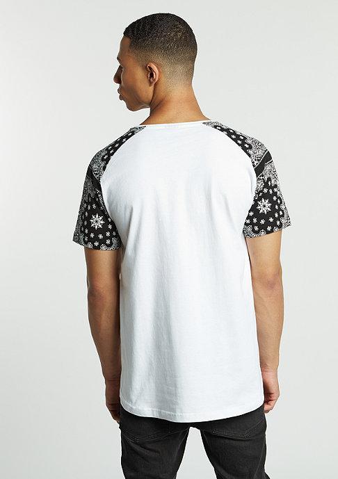 Artist by Mister Tee T-Shirt Raglan Bandana white/black