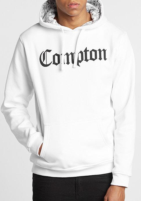 Artist by Mister Tee Hooded-Sweatshirt Compton Bandana white