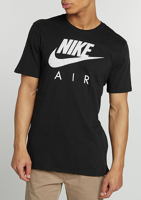 NIKE T-Shirt Air Heritage black/black/white