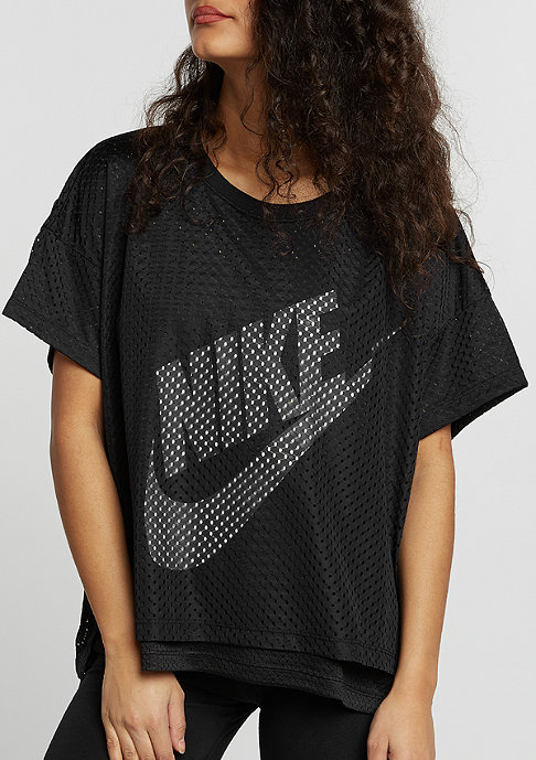NIKE Mesh Crop black/black/white/white
