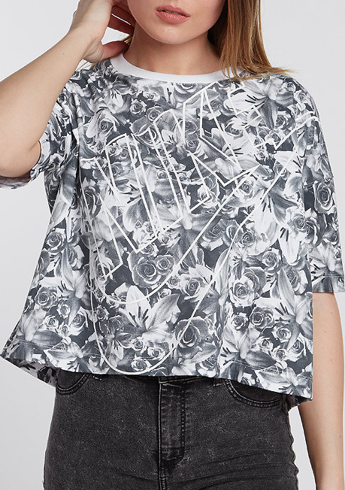 NIKE T-Shirt NSW Top AOP FTW black/white
