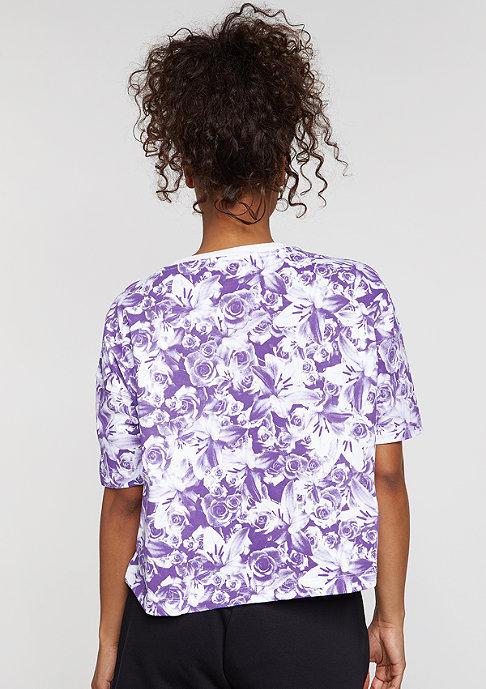 NIKE T-Shirt NSW Top AOP FTW dark iris/white