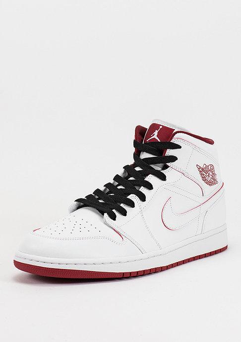 JORDAN Air Jordan 1 Mid white/gym red/black