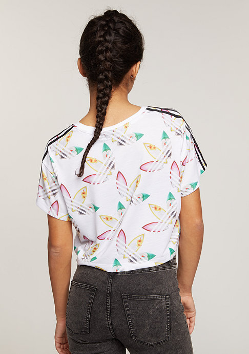 adidas T-Shirt Surf Crop white