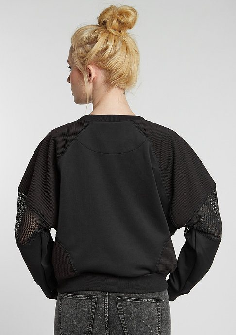 SNIPES Sweatshirt Short Tech black/black