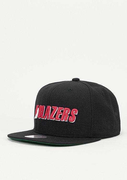 Mitchell & Ness Snapback-Cap Solid NBA Portland Trail Blazers black
