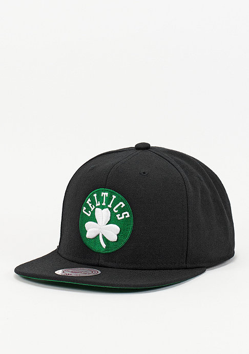 Mitchell & Ness Snapback-Cap Wool Solid NBA Boston Celtics black