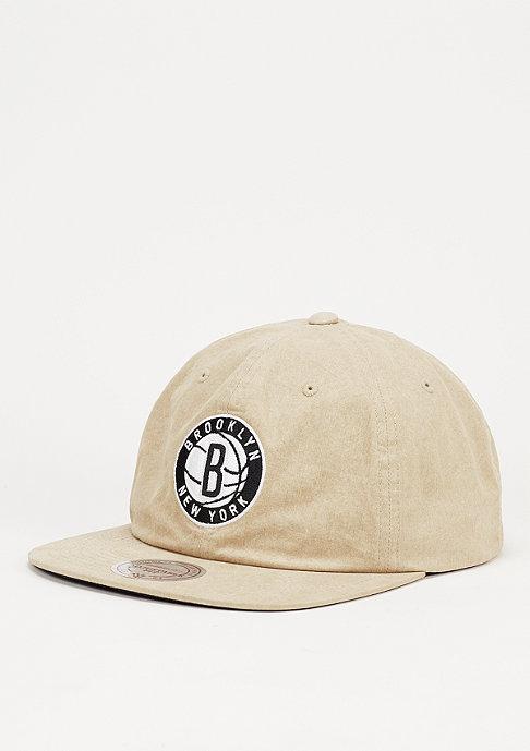 Mitchell & Ness Low Profile Self Fabric NBA Brooklyn Nets khaki