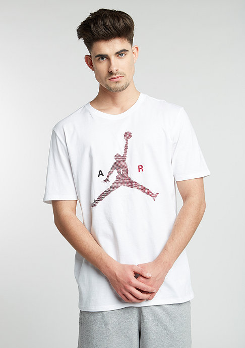 JORDAN T-Shirt Air Jumpman white/gym red