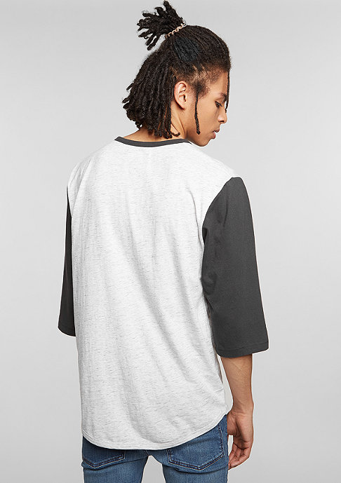 Brixton Adam 3/4 Henley heather stone