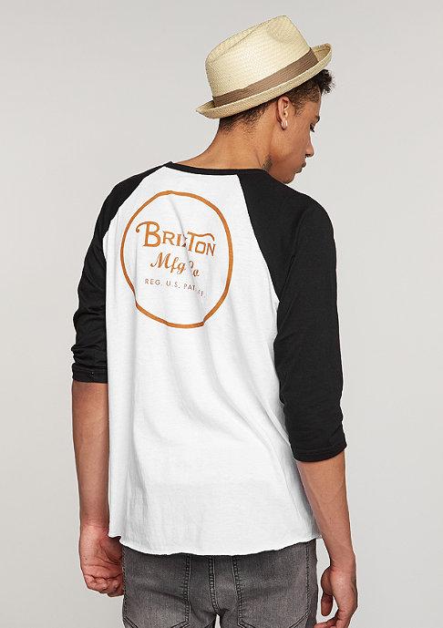 Brixton Wheeler 3/4 white/burnt orange