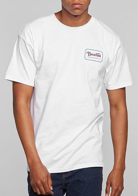 Brixton T-Shirt Grade white/burgundy
