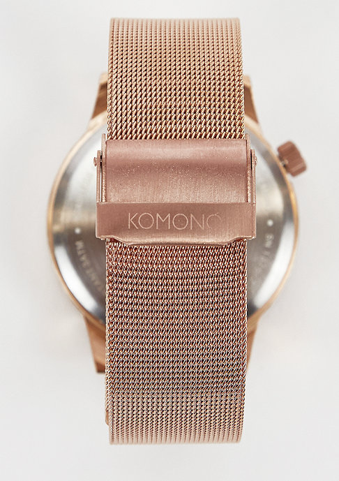 Komono Uhr Winston Royale rose gold/black
