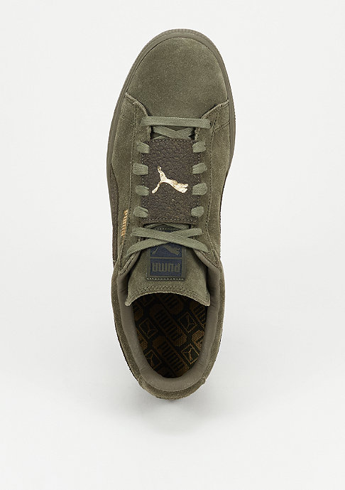 Puma Schuh Suede Classic Epic Snake burnt olive/team gold