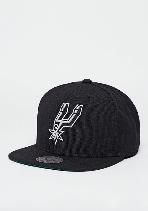 Mitchell & Ness Snapback-Cap Wool Solid NBA San Antonio Spurs black