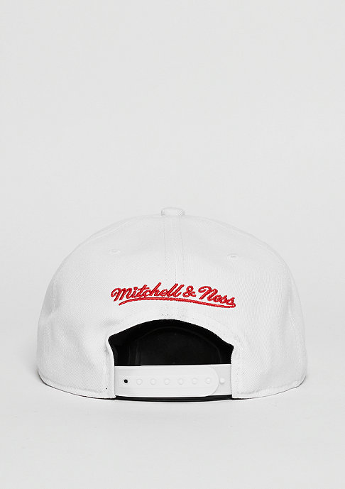Mitchell & Ness Snapback-Cap Wool Solid NHL Detroit Red Wings white