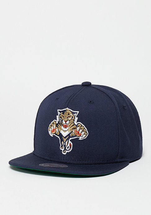 Mitchell & Ness Snapback-Cap Wool Solid NHL Florida Panthers navy