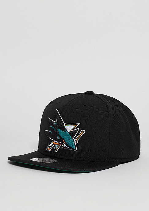 Mitchell & Ness Snapback-Cap Wool Solid NHL San Jose Sharks black