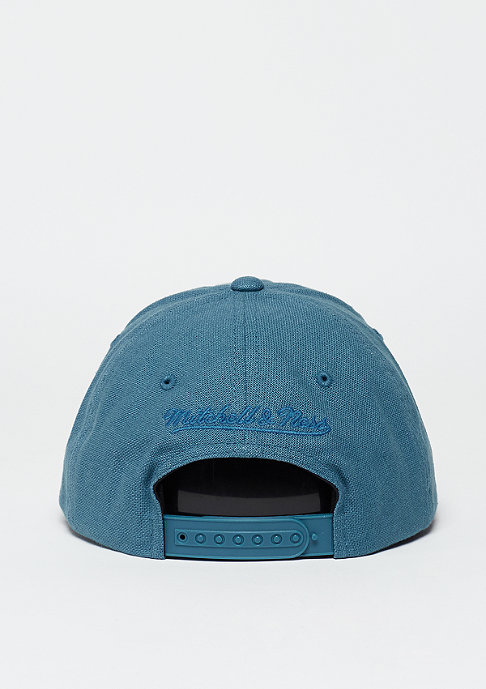 Mitchell & Ness Snapback-Cap Linen Slouch blue