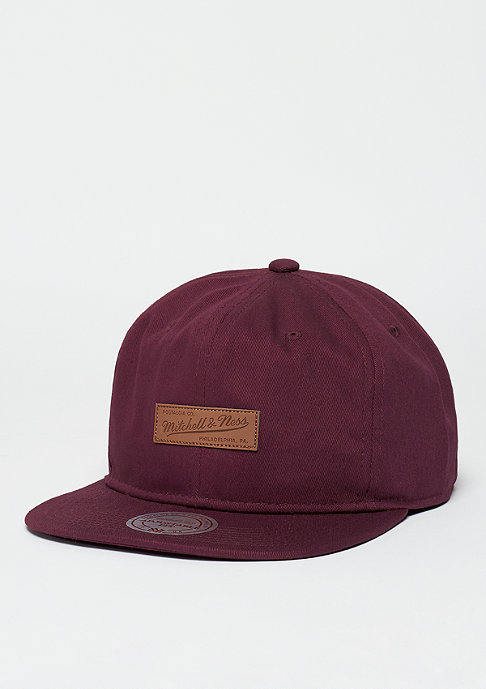 Mitchell & Ness Snapback-Cap Ballpark burgundy