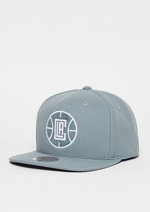 Mitchell & Ness Snapback-Cap Poly Knit NBA Los Angeles Clippers grey