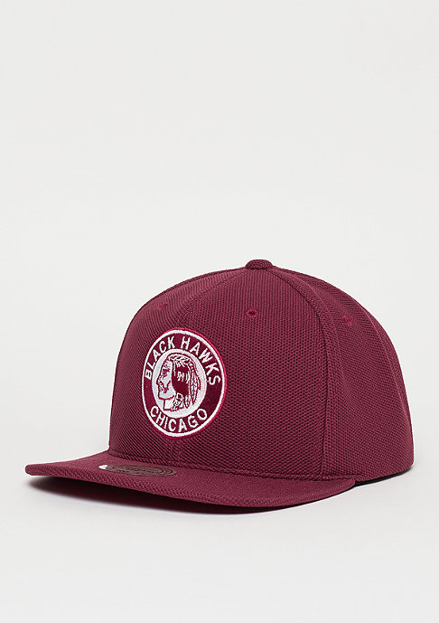Mitchell & Ness Snapback-Cap Poly Knit NHL Chicago Blackhawks burgundy