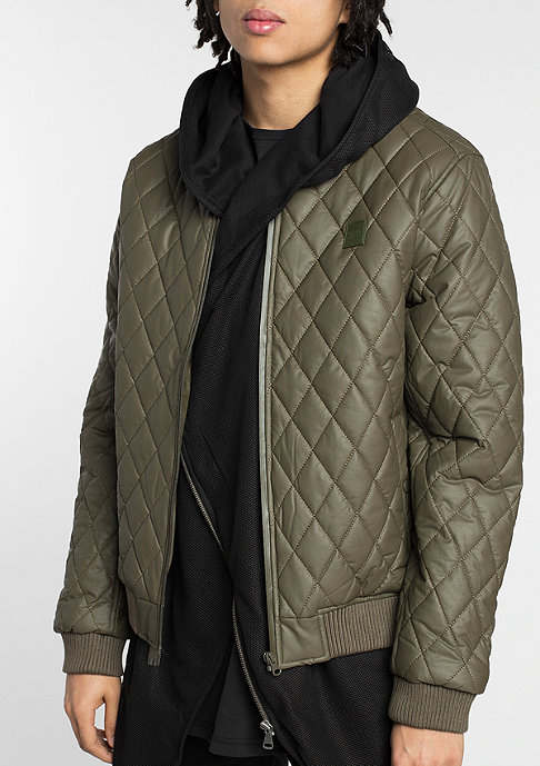 Urban Classics Diamond Quilt dark olive