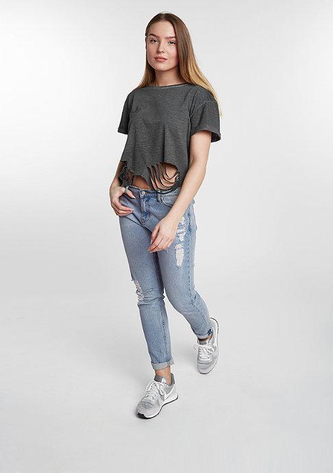 Urban Classics T-Shirt Cutted Cropped dark grey