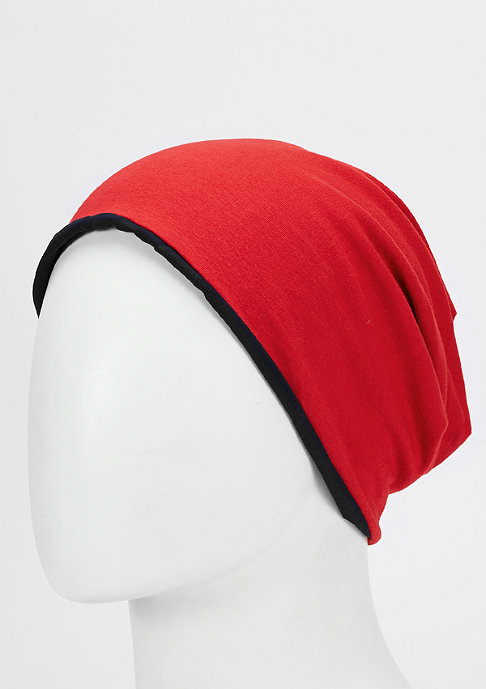 SNIPES Jersey Beanie Reversible black/red
