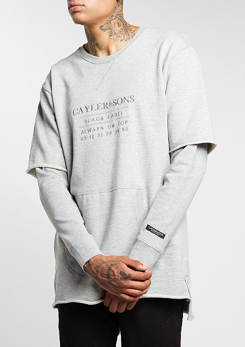 Cayler & Sons C&S BL Crew Box Cut Off Layer grey heather/grey