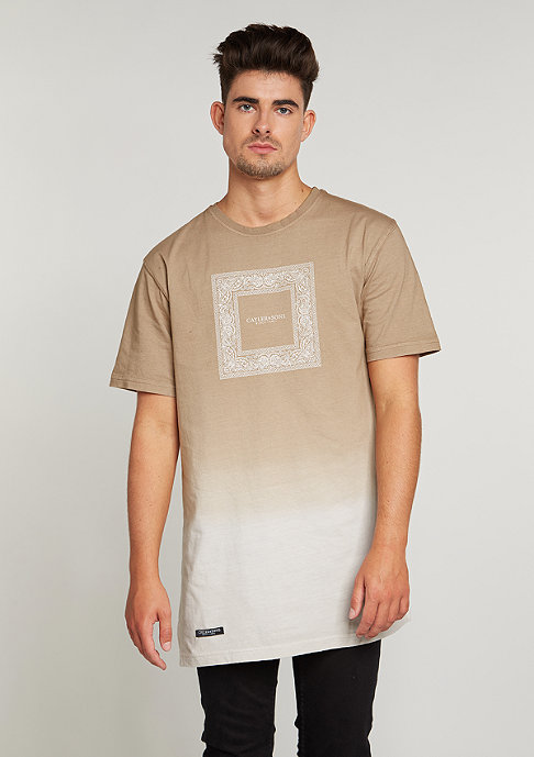 Cayler & Sons C&S BL Tee Paiz Long dipped sand/black